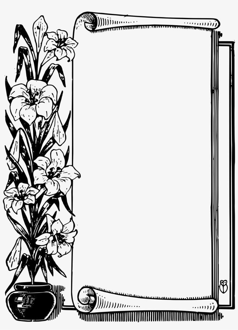 flower pot scroll frame