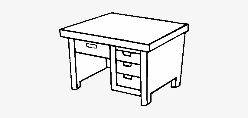 Desk Coloring Pages