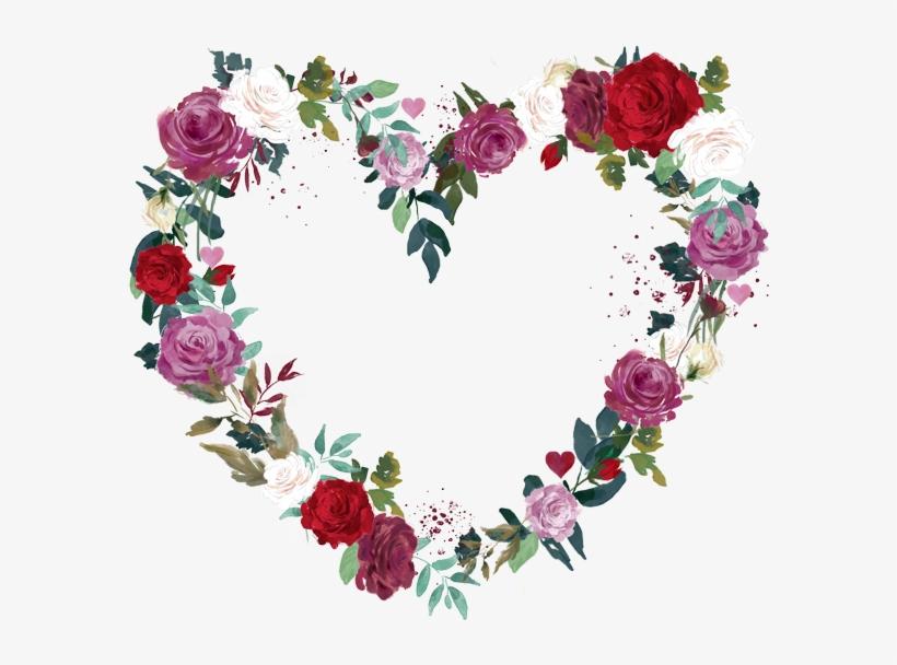 love heart flower wreath