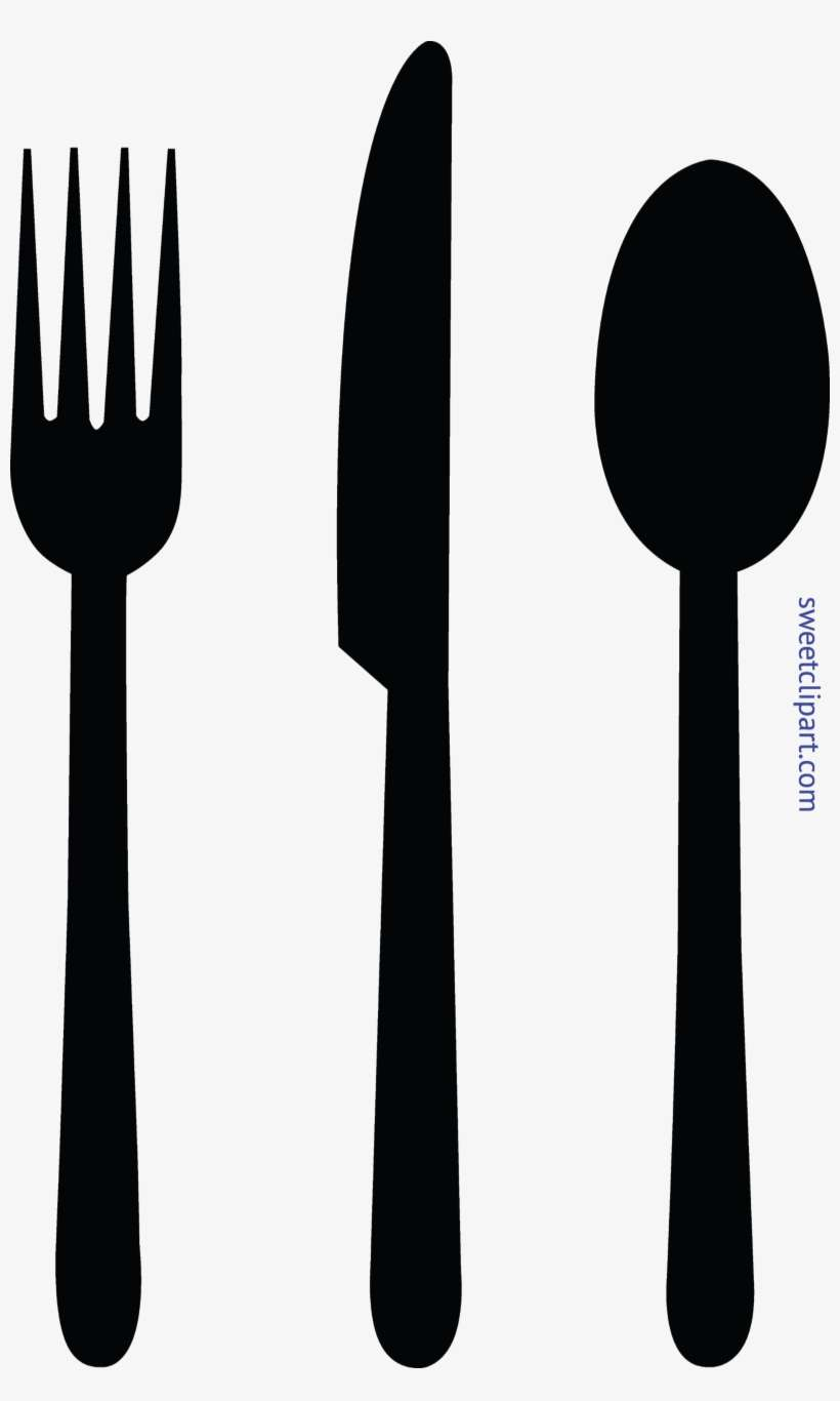 hight resolution of fork knife spoon black clip art spoon and fork clipart