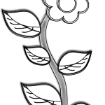 Flowers For Flower Drawings In Black And White Plant With Flower Drawing Full Size Png Download Seekpng