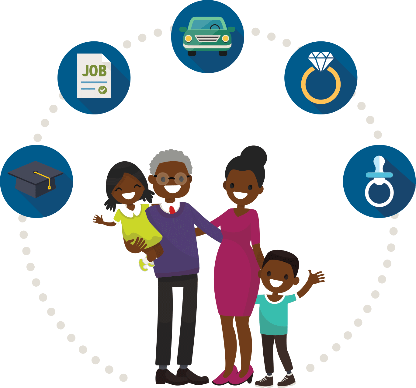 hight resolution of african american family clipart 1368x1275 png download