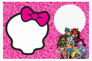 monster high invitation template png