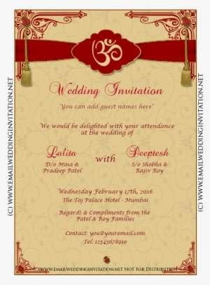 Indian Wedding Invitation Card Template Editing Inspirational Edit Online