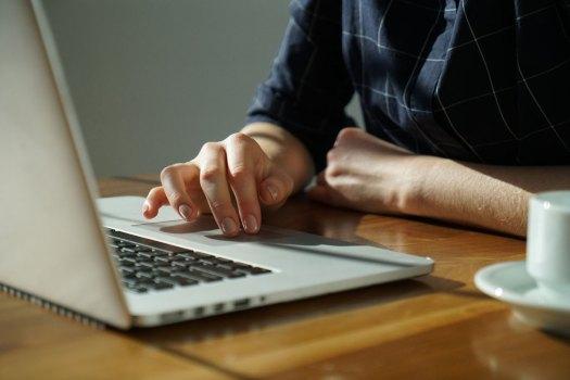 Person using computer presumably writing React