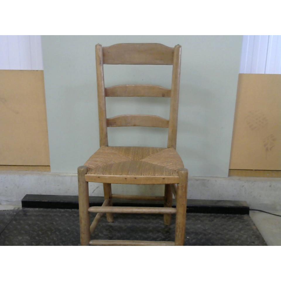 chaise en bois paille seemaphore ressourcerie