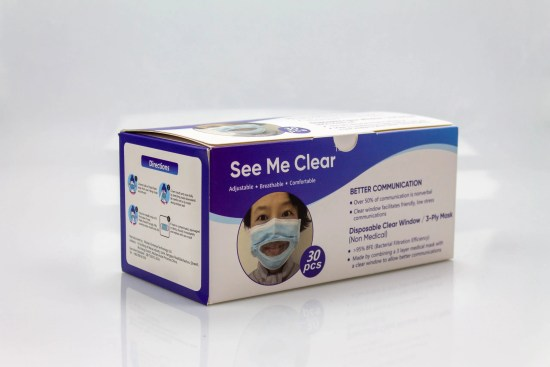 clear window mask for the deaf and hard of hearing