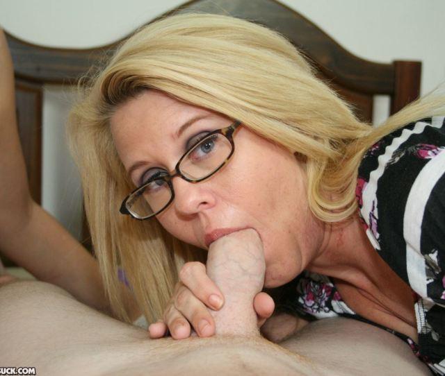Blonde Mom Sucking Big Cock