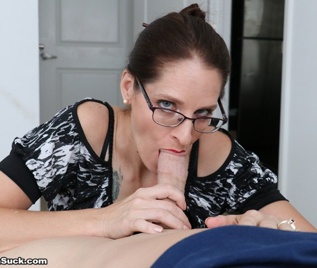 She Sucks It While Tugging It Until It Hardens To The Max Then The Race Is Off To See How Fast She Can Get Her Horny Step Son To The Finish Line