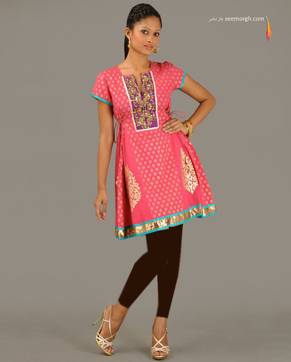 مانتو زنانه هندی با رنگهای متنوع و زیبا