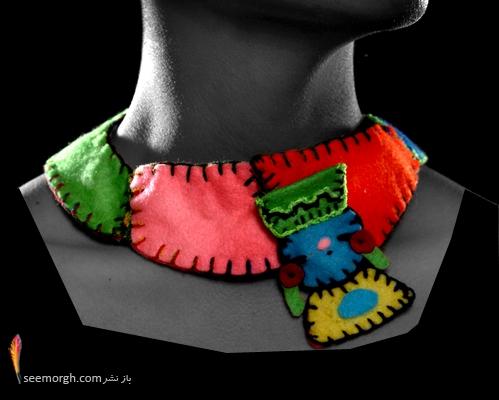 گردنبند فانتزی پارچه ای