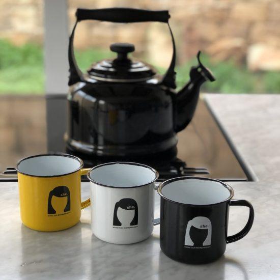 Promoting with enamel mugs