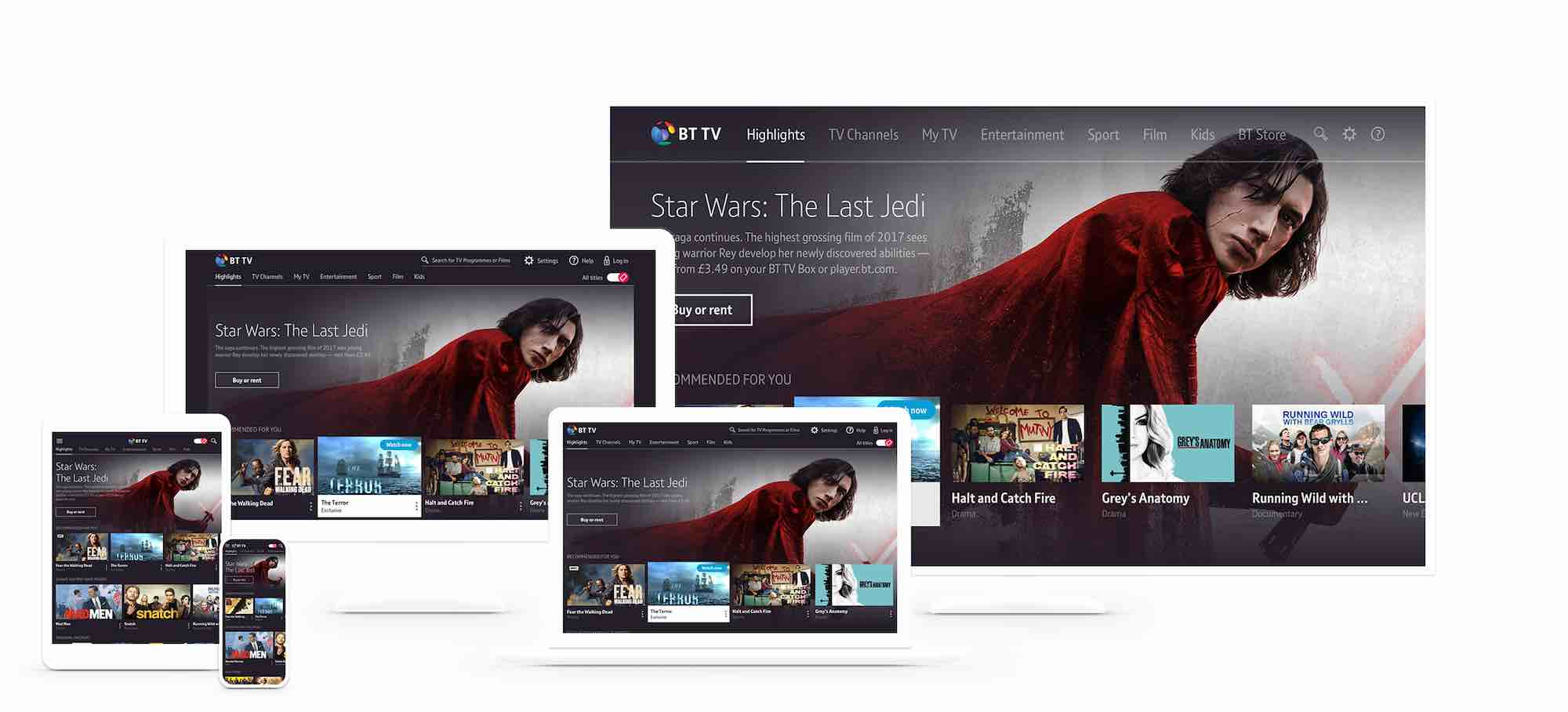 BT releases new apps for Samsung Smart TVs, Apple TV and Google