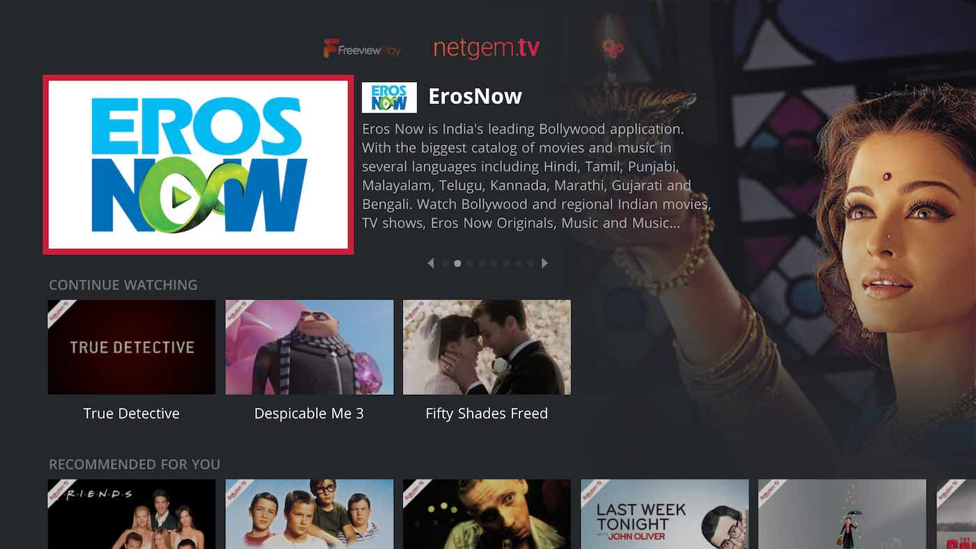 Eros is now available on netgem tv set top boxes – SEENIT