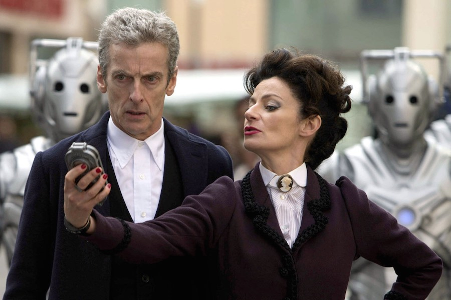 Michelle Gomez with series star Peter Capaldi. Image: BBC