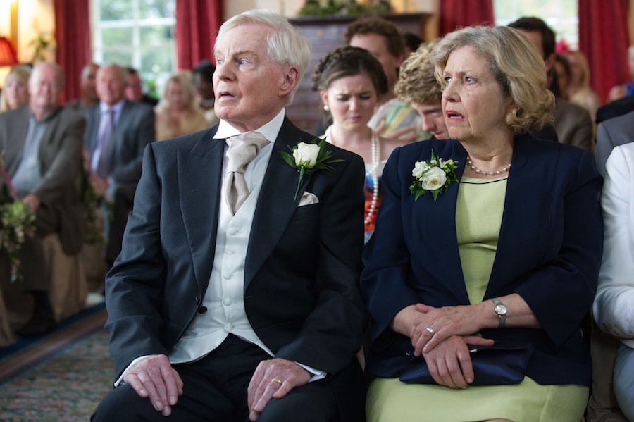 Alan (DEREK JACOBI), Celia (ANNE REID). Picture: BBC/Red Productions
