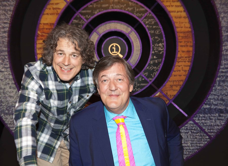QI's  Alan Davies, Stephen Fry. Image: BBC/Talkback/Brian Ritchie