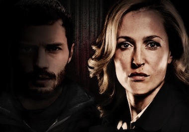 (L-R) Serial killer Paul Spector (Jamie Dornan) and DSI Stella Gibson (Gillian Anderson). Image: BBC/Artists Studio/Steffan Hill