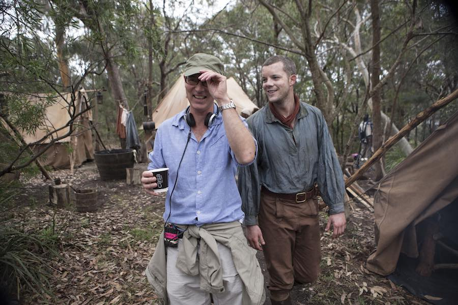 Tovey (right) recently appeared in BBC Two's Banished. Image:  BBC/RSJ Films/Mark Rogers