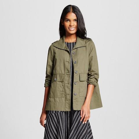 WhoWhatWear for Target_Womens Peplum Utility Jacket