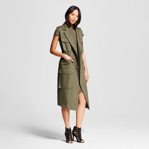 WhoWhatWear for Target_Womens Trench Vest Khaki