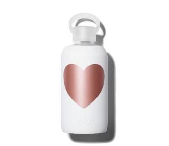 BKR Bottle Metallic Rose Heart