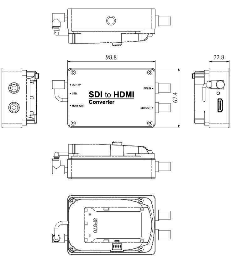 SDI to HDMI Converter STH-Zhangzhou SEETEC Optoelectronics