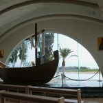 Boat-shaped altar in church at Magdala (Seetheholyland.net)