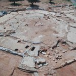 Aerial view of Kathisma church (© Israel Antiquities Authority)