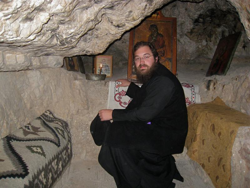 Image result for Greek monk in a cave