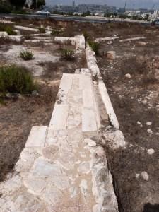 Foundation of northern wall of Kathisma church (Seetheholyland.net)