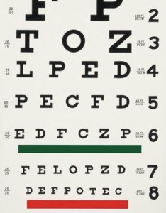 This is  typical snellen visual acuity chart as used in optometry clinics everywhere also rh seevividly