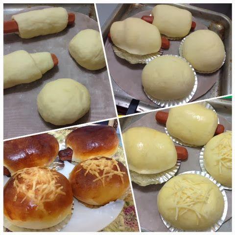 腸仔包+芝士粒粒包(麵包機搓粉,用焗爐/光波爐烘焗) - 麵包 - SeeWide