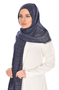 Navy Blue Shawl 6110-03