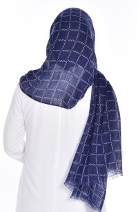Navy Blue Shawl 06