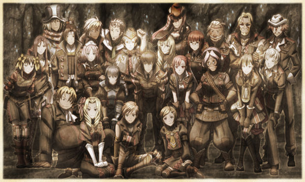 Group photo of the Nameless, the unit played as in Valkyria Chronicles 3.