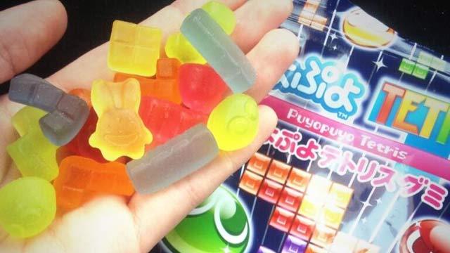 puyo puyo tetris celebrated with gummi candies in japan segalization