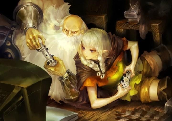 Dragon's Crown Dwarf Versus Elf