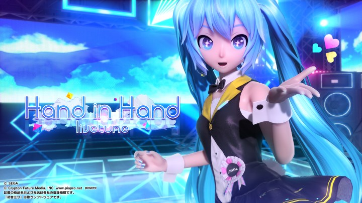 Project DIVA Arcade Future Tone - Hand in Hand - Wallpaper