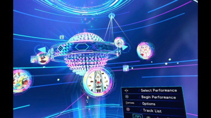 Hatsune Miku VR Future Live - Menu
