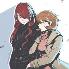 mitsuru-and-yukari-from-persona-3-by-koyorin