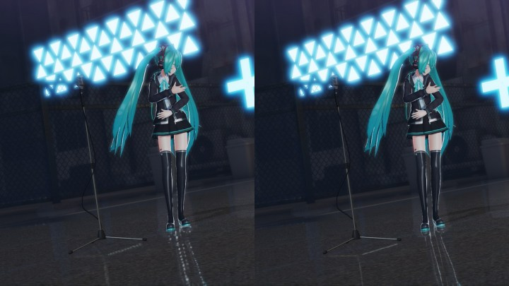 Project DIVA X - PS 4 Pro Comparison - Reflections