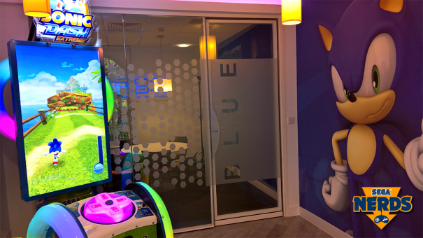 Every office needs a Sonic arcade machine