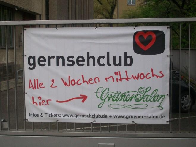 Plakat zur ankündigung des Gernsehclubs