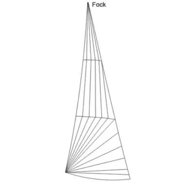 20m² Jollenkreuzer 9,6m² Fock Produktbild