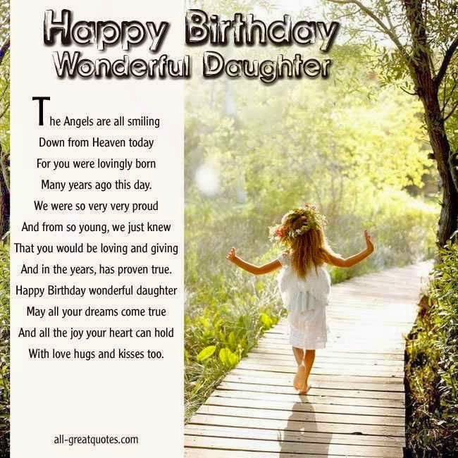daughter birthday cards for