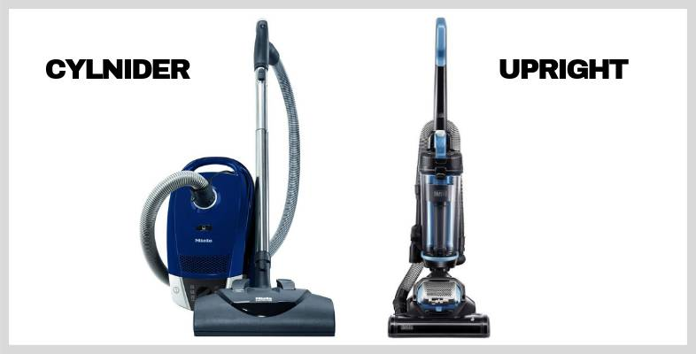 upright vs cylinder vacuum cleaners