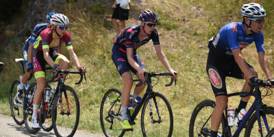 Arensman rides in the break in the queen stage in Alsace