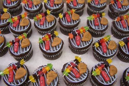 Cupcake tema churrasco  Segredos da Vov  Segredos da Vov