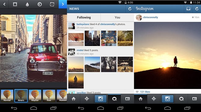Instagram para Android.